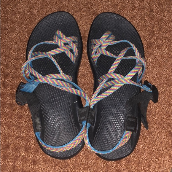 Chaco Shoes - Double Strap Colorful Striped Chacos